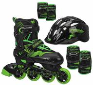 Roller Derby Carver Boys' Inline Skates with Protective Pack