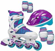 Roller Derby Carver Girls' Inline Skates with Protective Pack