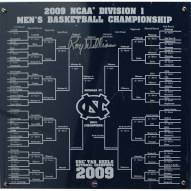 Roy Williams Signed UNC Basketball Engraved 12x12 Bracket (Signed in Silver)