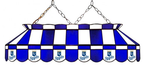 "Kansas City Royals MLB Team 40"" Rectangular Stained Glass Shade"