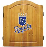 Kansas City Royals MLB Complete Dart Board Cabinet Set (w/ darts & flights)