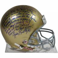 """Rudy Ruettiger Signed Notre Dame Authentic Full Size Helmet w/ long """"5 Foot Nothing"""" insc"""