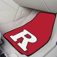 Rutgers Scarlet Knights 2-Piece Carpet Car Mats