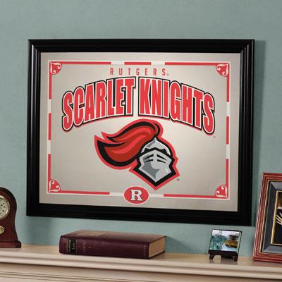 """Rutgers Scarlet Knights 23"""" x 18"""" Mirror"""