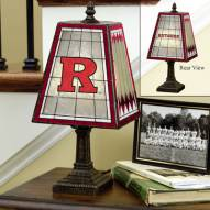 Rutgers Scarlet Knights Art Glass Table Lamp