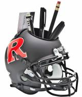 Rutgers Scarlet Knights Black Schutt Football Helmet Desk Caddy