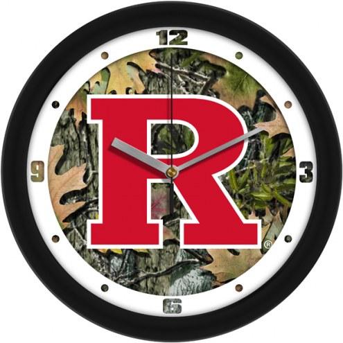 Rutgers Scarlet Knights Camo Wall Clock