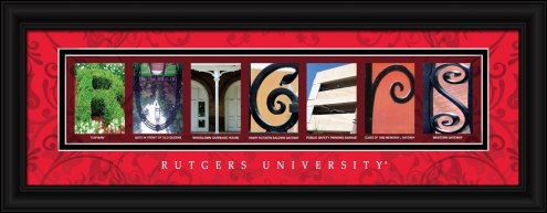 Rutgers Scarlet Knights Campus Letter Art