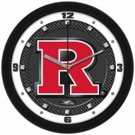 Rutgers Scarlet Knights Carbon Fiber Wall Clock