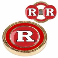Rutgers Scarlet Knights Challenge Coin with 2 Ball Markers