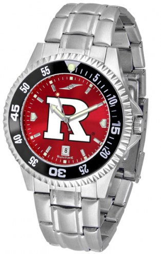 Rutgers Scarlet Knights Competitor Steel AnoChrome Color Bezel Men's Watch