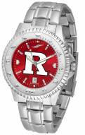 Rutgers Scarlet Knights Competitor Steel AnoChrome Men's Watch