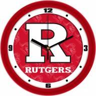 Rutgers Scarlet Knights Dimension Wall Clock