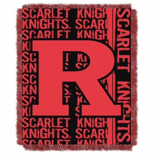 Rutgers Scarlet Knights Double Play Woven Throw Blanket