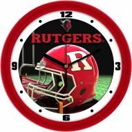 Rutgers Scarlet Knights Football Helmet Wall Clock