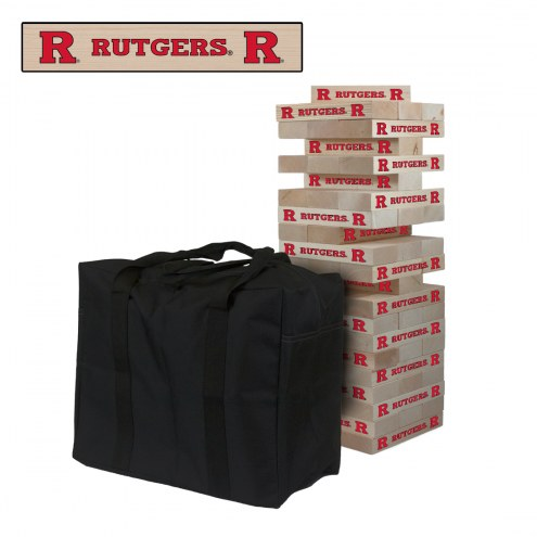 Rutgers Scarlet Knights Giant Wooden Tumble Tower Game