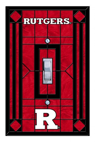 Rutgers Scarlet Knights Glass Single Light Switch Plate Cover