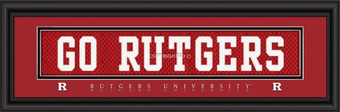 """Rutgers Scarlet Knights """"Go Rutgers"""" Stitched Jersey Framed Print"""