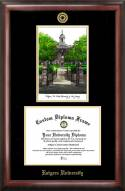 Rutgers Scarlet Knights Gold Embossed Diploma Frame with Lithograph