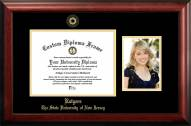Rutgers Scarlet Knights Gold Embossed Diploma Frame with Portrait