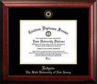 Rutgers Scarlet Knights Gold Embossed Diploma Frame