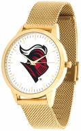 Rutgers Scarlet Knights Gold Mesh Statement Watch