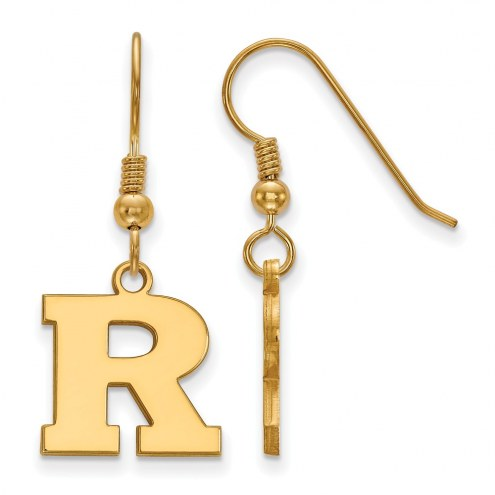 Rutgers Scarlet Knights Sterling Silver Gold Plated Small Dangle Earrings