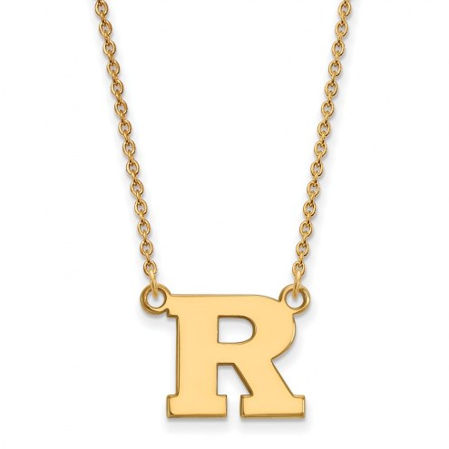 Rutgers Scarlet Knights Sterling Silver Gold Plated Small Pendant Necklace