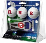 Rutgers Scarlet Knights Golf Ball Gift Pack with Hat Trick Divot Tool