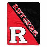 Rutgers Scarlet Knights Halftone Raschel Blanket