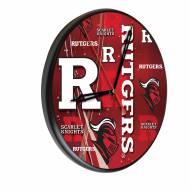 Rutgers Scarlet Knights Digitally Printed Wood Clock