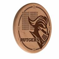 Rutgers Scarlet Knights Laser Engraved Wood Sign