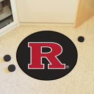Rutgers Scarlet Knights Hockey Puck Mat