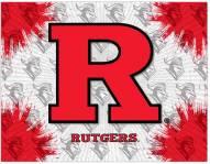 Rutgers Scarlet Knights Logo Canvas Print