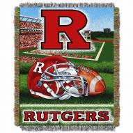 Rutgers Scarlet Knights Home Field Advantage Throw Blanket