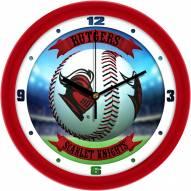 Rutgers Scarlet Knights Home Run Wall Clock