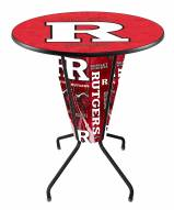 Rutgers Scarlet Knights Indoor/Outdoor Lighted Pub Table
