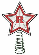 Rutgers Scarlet Knights Light Up Art Glass Tree Topper