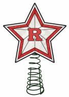 Rutgers Scarlet Knights Light Up Art Glass Tree Topper