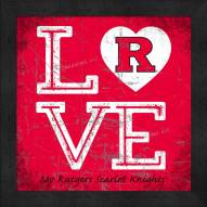 Rutgers Scarlet Knights Love My Team Color Wall Decor
