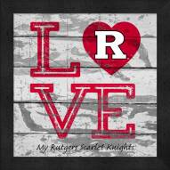Rutgers Scarlet Knights Love My Team Square Wall Decor