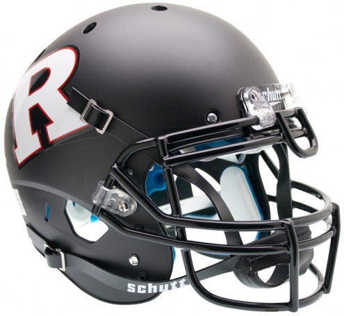 Rutgers Scarlet Knights Matte Black Schutt XP Authentic Full Size Football Helmet