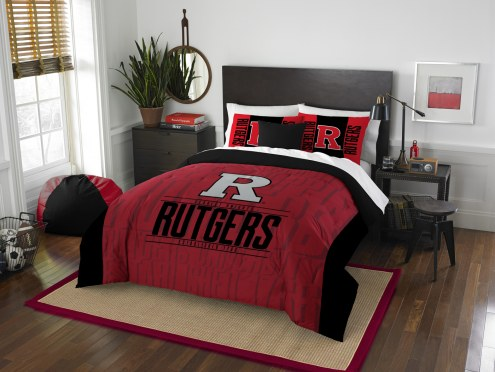 Rutgers Scarlet Knights Modern Take Full/Queen Comforter Set