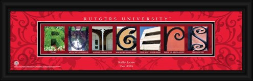 Rutgers Scarlet Knights Personalized Campus Letter Art
