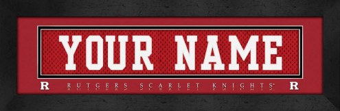 Rutgers Scarlet Knights Personalized Stitched Jersey Print