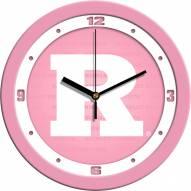 Rutgers Scarlet Knights Pink Wall Clock