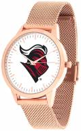 Rutgers Scarlet Knights Rose Mesh Statement Watch
