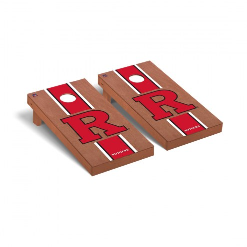 Rutgers Scarlet Knights Rosewood Stained Cornhole Game Set