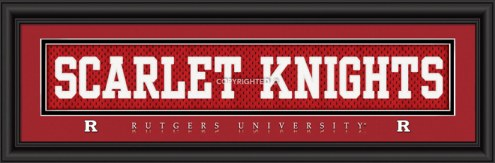 "Rutgers Scarlet Knights ""Scarlet Knights"" Stitched Jersey Framed Print"