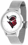 Rutgers Scarlet Knights Silver Mesh Statement Watch